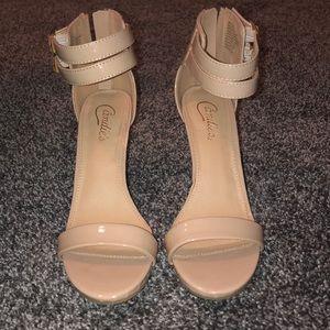 Candies Nude heels. Size 7.5